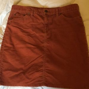 Gap corduroy pencil/mini skirt
